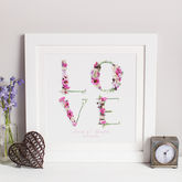 Personalised Floral Love Wedding Photographic Print - prints & art