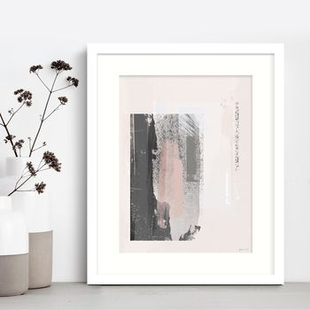 'Way Out' Minimal Abstract Painted Art Print
