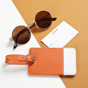 Personalised Soft Luxury Leather Luggage Tag - for him