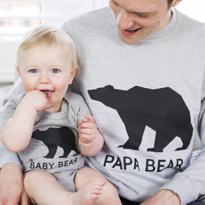 Bear Family Jumper Set - mother & child sets