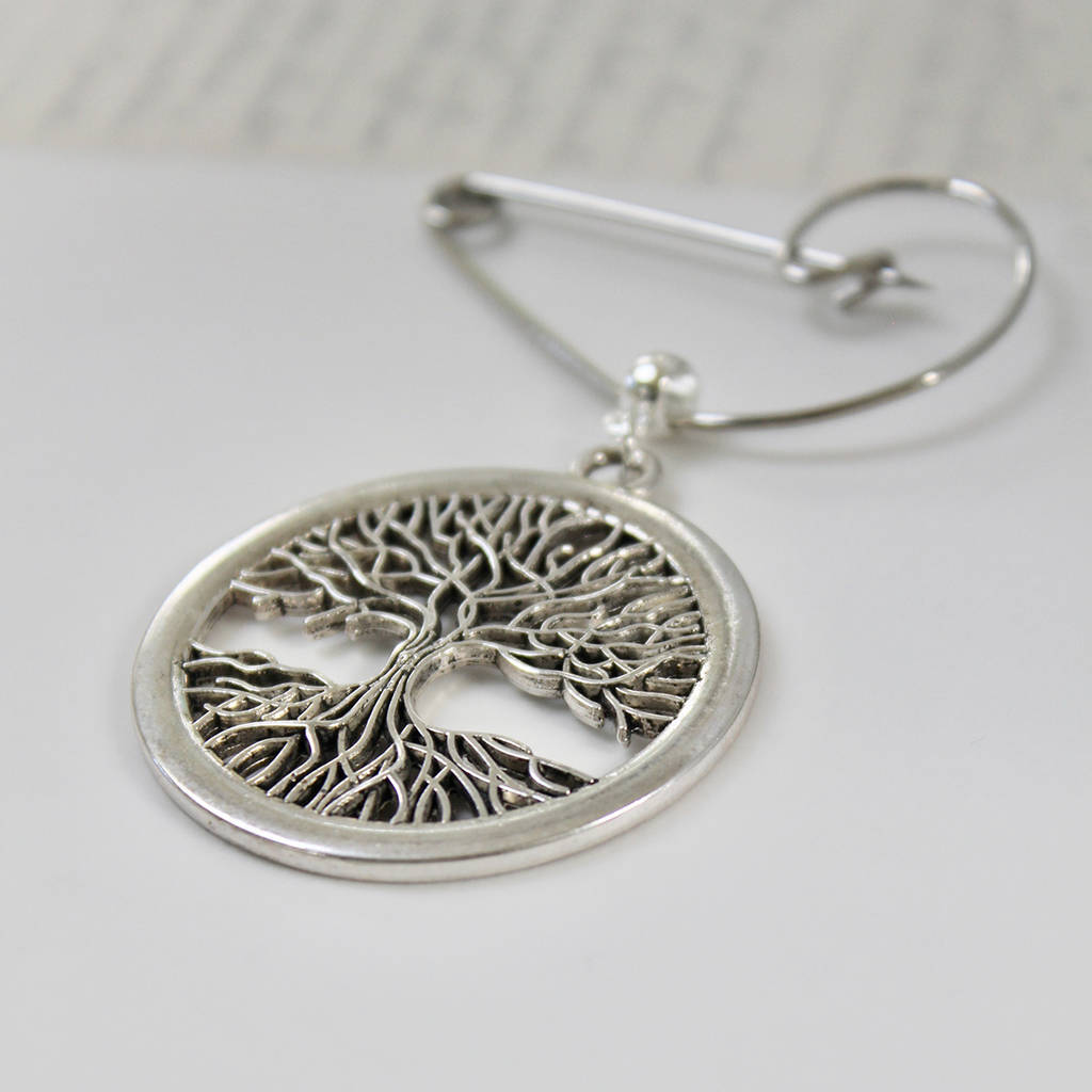 Swirl Brooch With The Tree Of Life
