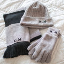 Personalised Initials Hat, Scarf And Gloves Set