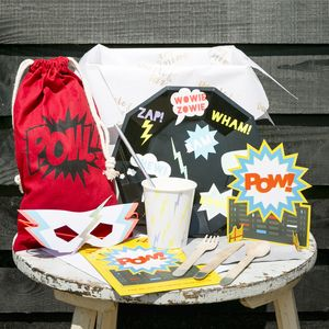 Large Superhero Party In A Box For 10 Persons