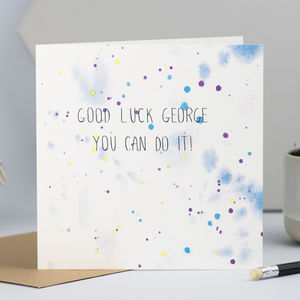 Good Luck Card For Him Or Her