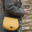 Leather Colourful Saddlebag Handbag