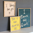Bespoke Child's Handwriting Wooden Wall Art