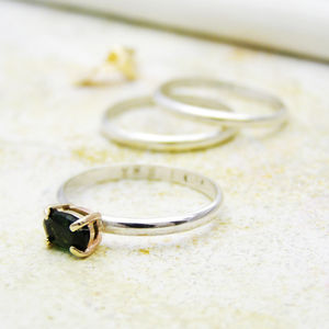 Personalised Tourmaline Birthstone Ring - rings
