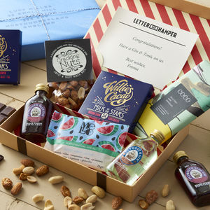Gin And Chocolate Lovers Letter Box Hamper