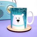 Polar Bear Penguin Winter Christmas Mug