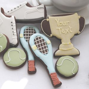 Personalised Tennis Biscuit Tin - cakes & sweet treats