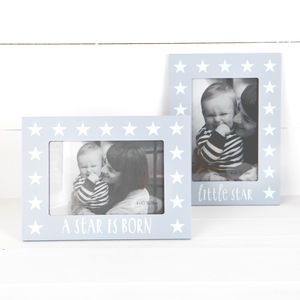Grey Star Photo Frame With Text, Two Designs - picture frames