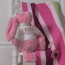 Personalised Sorbet Pink Bashful Bunny Soft Toy