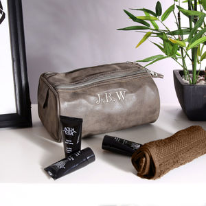 Personalised Vintage Wash Bag And Towel - wash & toiletry bags