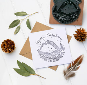Christmas Card Stamp With Owl
