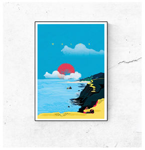 A Dramatic British Coastline Of Wales Art Print