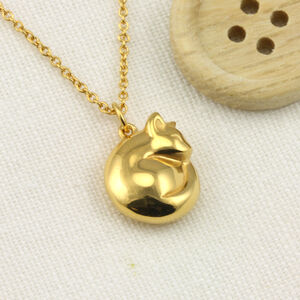 Personalised 9ct Gold Cat Necklace