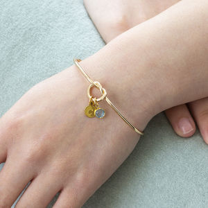 Friendship Knot Bangle - birthstone jewellery gifts