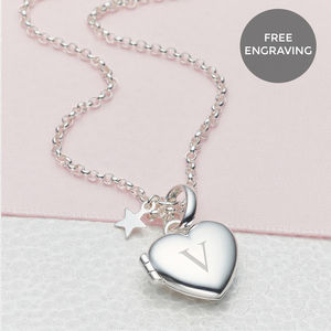 Personalised Small Heart Locket