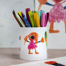 Personalised Child's Drawing Pen Pot