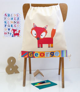 Childrens Woodland Fox Nursery Bag