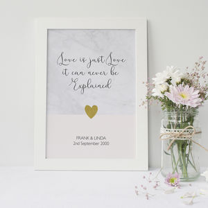 Love Is Just Love Personalised Print