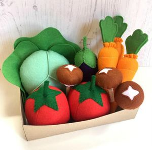 Pretend Play Felt Food Vegetable Box