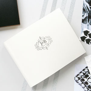 Wedding Guest Book With A Wedding Logo Designed