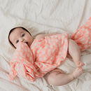 Blush Spot Muslin Swaddle
