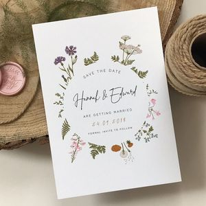 Botanical Garden Save The Date Card - new in wedding styling