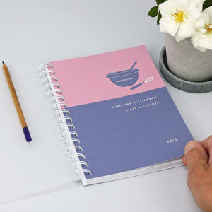 Personalised 2019 Diary For Baking Lovers