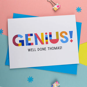 Genius Well Done Personalised Card