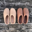 Sale Fair Trade Handmade Eco Felt Mule Slippers