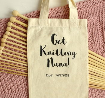 Personalised Knitting Needles Pregnancy Announcement