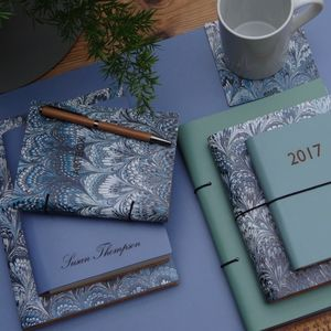 Marbled Leather Notebook And Journal - 2017 diaries