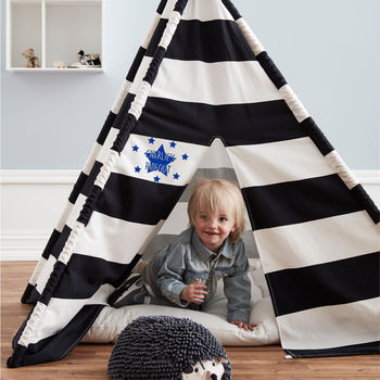 Personalised Black And White Teepee