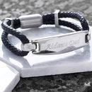 Explorer Black Leather Bracelet