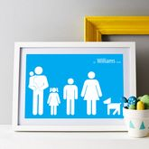 Personalised Family Poster - mother's day