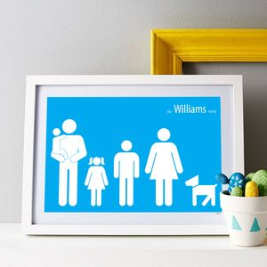 Personalised Family Poster - gifts for him sale