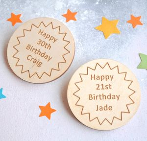 Personalised Birthday Star Badge