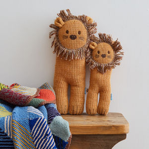 Soft Knit Lion Toy - gifts for babies
