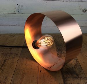 Mousehole Hand Rolled And Rivited Copper Desk Lamp - lighting