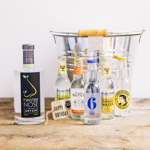 Craft Gin Bouquet Gift Hamper - gifts to eat & drink
