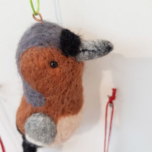 Needle Felt Chaffinch Hanging Decoration