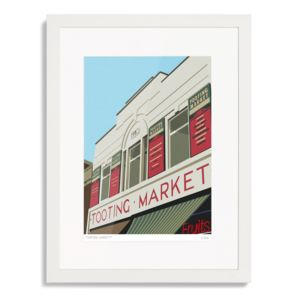 Tooting Market Art Print - posters & prints