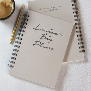 Personalised Notebook Message Of Choice - graduation gifts