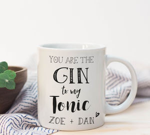 Personalised Gin And Tonic Funny Mug - personalised gifts