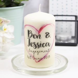 Personalised 'Engagement' Candle - dining room