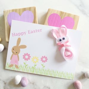 Easter Bunny Hair Bow And Gift Card