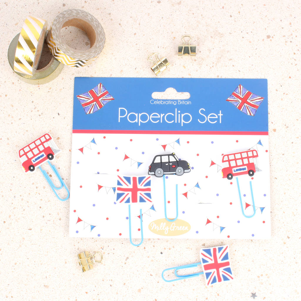 Celebrating Britain Novelty Paperclips