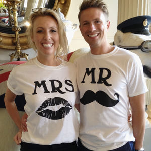 Mr And Mrs T Shirts Wedding Gift Set - women's fashion